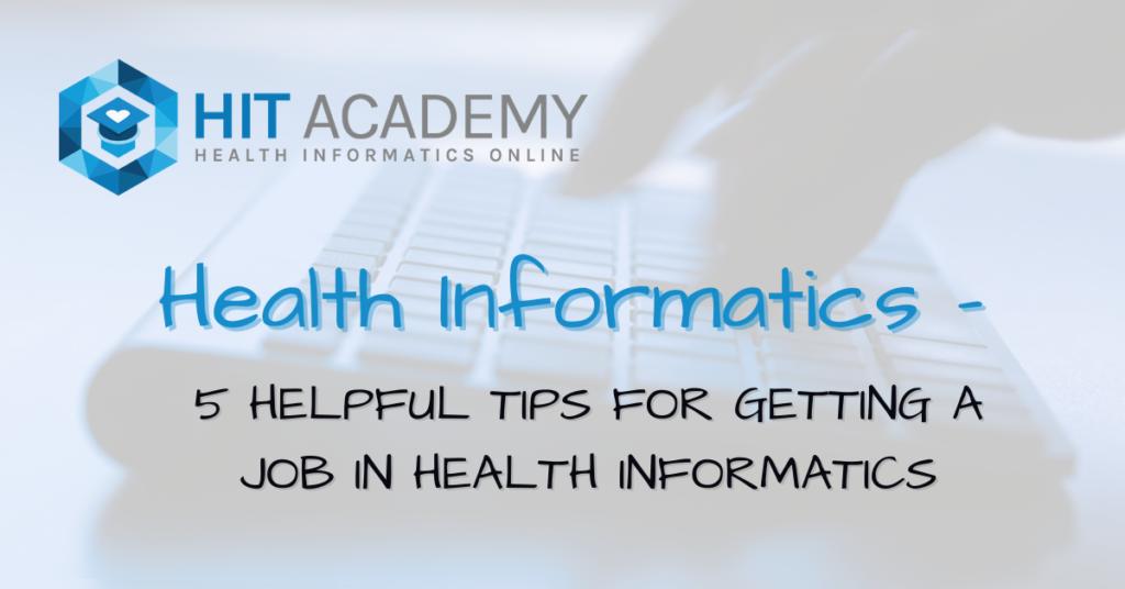 health it job tips