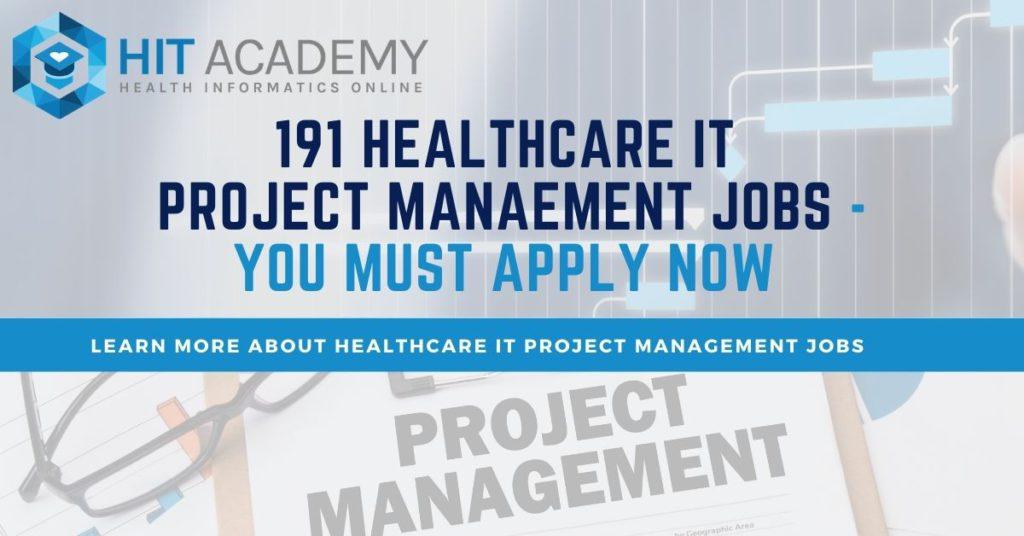 healthcare IT project management jobs