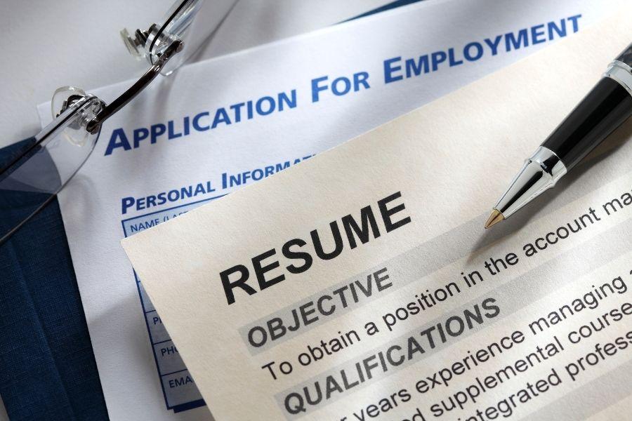 job application and resume